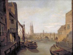 London Bridge from Pepper Alley Stairs, 1788 by William Marlow