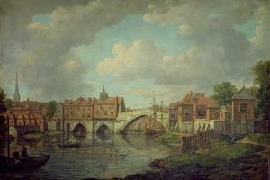 Ouse Bridge, York, c.1764 by William Marlow