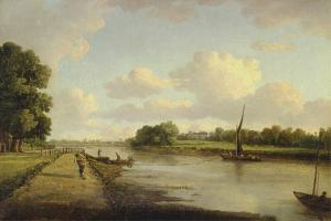 View on the River Thames at Richmond (?), C.1776 by William Marlow