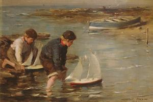 Starting the Race, 1902 by William Marshall Brown