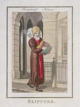 Slippers, Cries of London, 1804 by William Marshall Craig