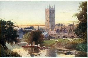 Magdalen Tower and Bridge by William Matthison