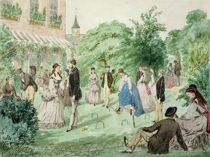 Ladies and Gentlemen Playing Croquet by William Mcconnell