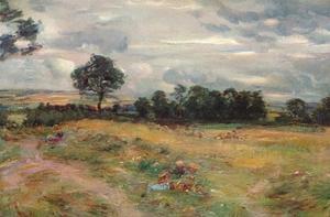 'Harvest at Broomieknowe', 1896 by William McTaggart