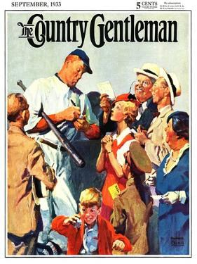 """""""Autograph for a Fan,"""" Country Gentleman Cover, September 1, 1933 by William Meade Prince"""