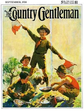 """Boy Scouts,"" Country Gentleman Cover, September 1, 1930 by William Meade Prince"