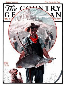 """""""Broken Plow,"""" Country Gentleman Cover, August 22, 1925 by William Meade Prince"""