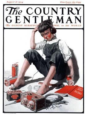 """""""Build Your Own Radio,"""" Country Gentleman Cover, August 16, 1924 by William Meade Prince"""