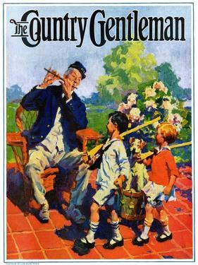 """""""Children's Fourth of July Parade,"""" Country Gentleman Cover, July 1, 1927 by William Meade Prince"""