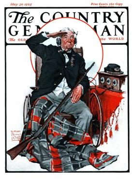 """""""Civil War Veteran,"""" Country Gentleman Cover, May 30, 1925 by William Meade Prince"""