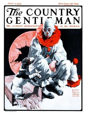 """""""Clown and Injured Dog,"""" Country Gentleman Cover, June 13, 1925 by William Meade Prince"""