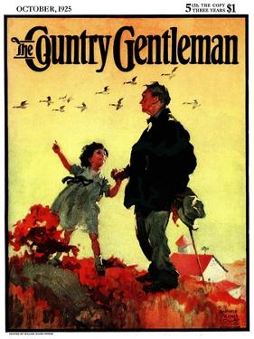 """""""Geese Flying South,"""" Country Gentleman Cover, October 1, 1925 by William Meade Prince"""