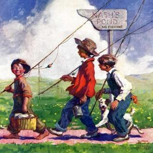 """Going Fishing,""May 1, 1926 by William Meade Prince"