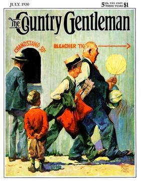 """""""Grandstand 50 Cents,"""" Country Gentleman Cover, July 1, 1930 by William Meade Prince"""