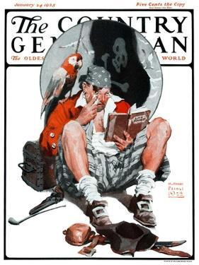 """""""Pirate's Love Story,"""" Country Gentleman Cover, January 24, 1925 by William Meade Prince"""