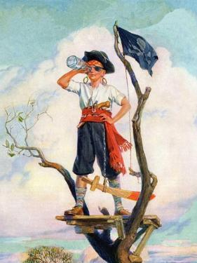 """""""Playing Pirate,""""March 1, 1929 by William Meade Prince"""