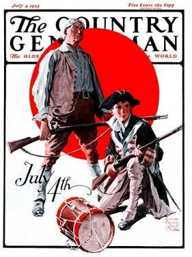 """""""Revolutionary Soldiers,"""" Country Gentleman Cover, July 4, 1925 by William Meade Prince"""