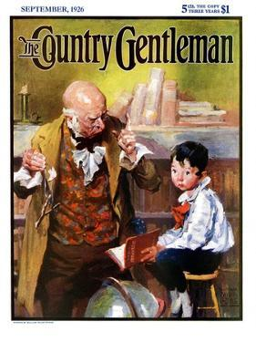 """""""School Master,"""" Country Gentleman Cover, September 1, 1926 by William Meade Prince"""