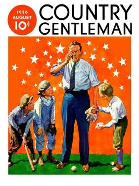 """""""Seeing Stars,"""" Country Gentleman Cover, August 1, 1936 by William Meade Prince"""