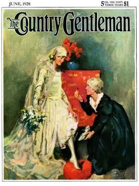"""""""Something Old, Something New,"""" Country Gentleman Cover, June 1, 1928 by William Meade Prince"""