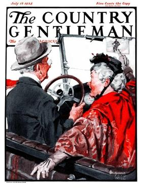 """""""Speeding Oldsters,"""" Country Gentleman Cover, July 18, 1925 by William Meade Prince"""