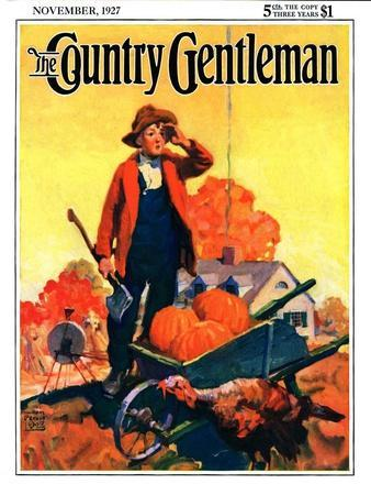 """""""Where's That Turkey?,"""" Country Gentleman Cover, November 1, 1927"""