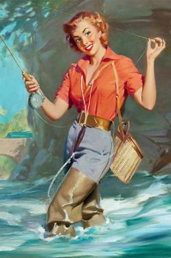 Pin-Up Fly Fishing by William Medcalf