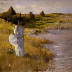An Afternoon Stroll, C.1890-95 by William Merritt Chase