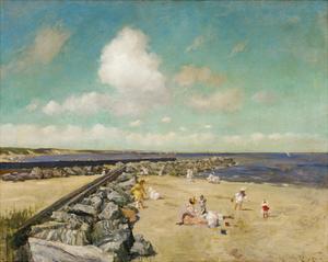Morning at Breakwater, Shinnecock c.1897 by William Merritt Chase