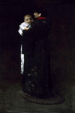 Mother and Child (The First Portrait), C. 1888 by William Merritt Chase