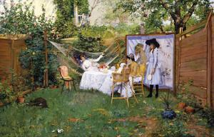 Open Air Breakfast, c.1888 by William Merritt Chase