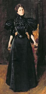 Portrait of a Lady in Black, c.1895 by William Merritt Chase