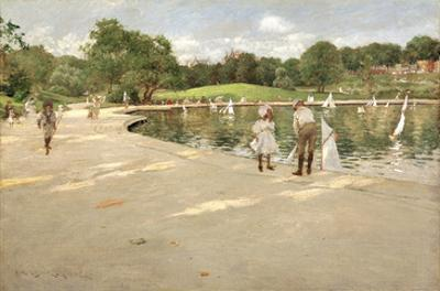 The Lake for Miniature Yachts by William Merritt Chase