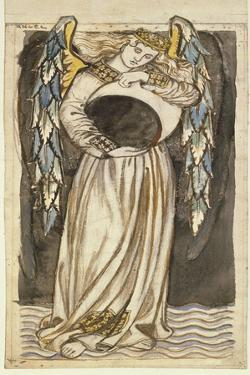 An Angel Holding a Waning Moon by William Morris