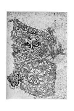 Honeysuckle Pattern Printed on Linen, 1883 by William Morris