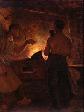The Forge, C.1855 by William Morris Hunt
