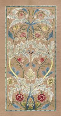 Panel of floral embroidery, circa 1875 –80 by William Morris