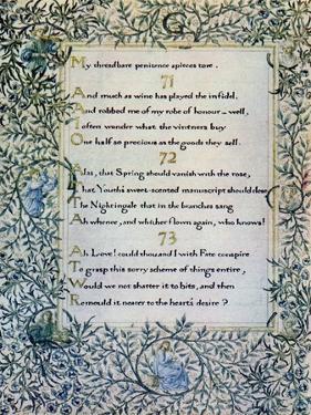 Rubaiyat of Omar Khayyam by William Morris