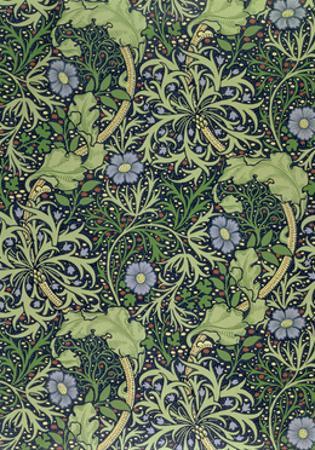 Seaweed Wallpaper Design, printed by John Henry Dearle by William Morris