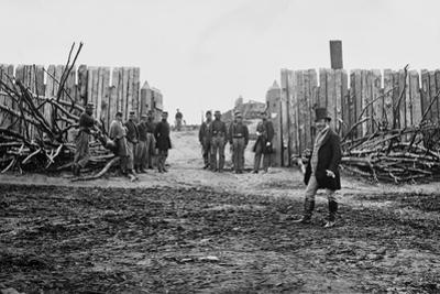 Rear Entrance of Fort Corcoran Atop Arlington Heights, Virginia, Winter C.1862