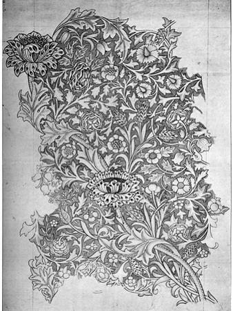 Trent' Pattern Printed Linen, 1892