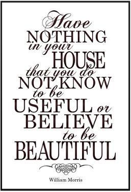 William Morris Useful and Beautiful Poster