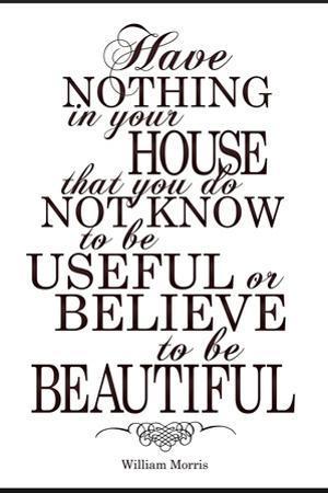 William Morris Useful and Beautiful