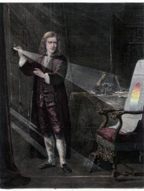 Newton Investigating Light, 1870 by William Mouat Loudan