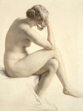 Life Study (Pastel and Pencil on Paper) by William Mulready