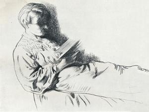 Drawing in Sanguine, C20th Century (1932) by William Newenham Montague Orpen