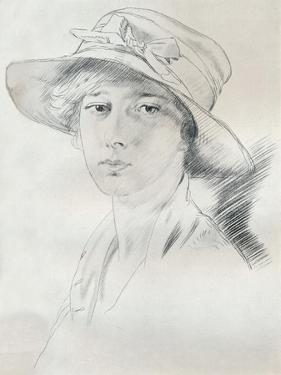 Portrait Study in Pencil, C20th Century (1932) by William Newenham Montague Orpen