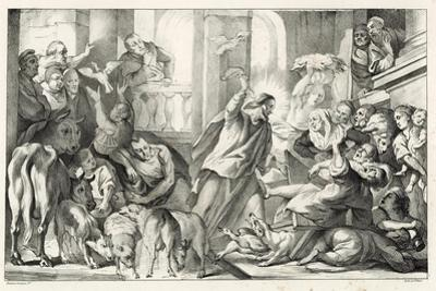 Jesus Casting the Moneylenders Out Ot the Temple