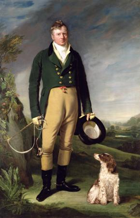 An Unknown Man with His Dog, 1815