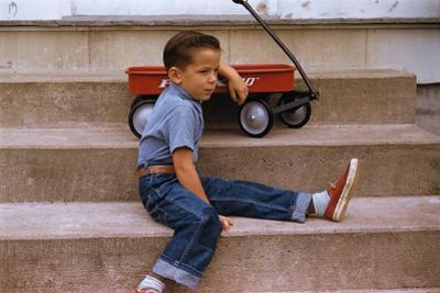 A Boy and His Wagon by William P. Gottlieb